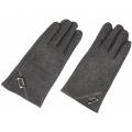 Перчатки iCasemore для емкостных дисплеев кашемировые с кнопкой. Серый