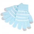 Touch Gloves - перчатки для емкостных дисплеев 18 см Light Blue