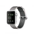 Apple Watch Series 2, 38 мм, корпус из серебристого алюминия, ремешок из плетёного нейлона жемчужного цвета (MNNX2)