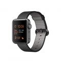 """Apple Watch Series 2, 38 мм, корпус из алюминия цвета """"серый космос"""", ремешок из плетёного нейлона чёрного цвета (MP052)"""