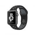"""Apple Watch Nike+ 38 мм, корпус из алюминия цвета """"серый космос"""", спортивный ремешок Nike цвета """"чёрный/холодный серый"""" (MNYX2)"""