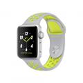 """Apple Watch Nike+ 38 мм, корпус из серебристого алюминия, спортивный ремешок Nike цвета """"листовое серебро/салатовый"""" (MNYP2)"""