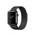 """Apple Watch Series 2, 38 мм, корпус из нержавеющей стали цвета """"чёрный космос"""", миланский сетчатый браслет цвета """"чёрный космос"""" (MNPE2)"""