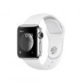 Apple Watch Series 2, 38 мм, корпус из нержавеющей стали, спортивный ремешок белого цвета (MNP42)