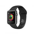 """Apple Watch Series 2, 38 мм, корпус из алюминия цвета """"серый космос"""", спортивный ремешок чёрного цвета (MP0D2)"""
