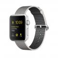 Apple Watch Series 2, 42 мм, корпус из серебристого алюминия, ремешок из плетёного нейлона жемчужного цвета (MNPK2)