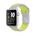 """Apple Watch Nike+ 42 мм, корпус из серебристого алюминия, спортивный ремешок Nike цвета """"листовое серебро/салатовый"""" (MNYQ2)"""