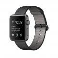 """Apple Watch Series 2, 42 мм, корпус из алюминия цвета """"серый космос"""", ремешок из плетёного нейлона чёрного цвета (MP072)"""