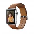 Apple Watch Series 2, 42 мм, корпус из нержавеющей стали, ремешок золотисто-коричневого цвета с классической пряжкой (MNPV2)