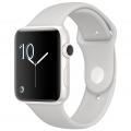 Apple Watch Edition 42 мм, корпус из белой керамики, спортивный ремешок цвета «светлое облако» (MNPQ2)