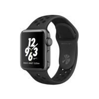 Apple Watch Nike+ 38 мм, корпус из алюминия цвета «серый космос», спортивный ремешок Nike цвета «антрацитовый/чёрный» (MQ162)