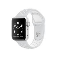 Apple Watch Nike+ 38 мм, корпус из серебристого алюминия, спортивный ремешок Nike цвета «чистая платина/белый» (MQ172)