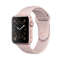 Apple Watch Series 2, 42 мм, корпус из алюминия цвета «розовое золото», спортивный ремешок цвета «розовый песок» (MQ142)