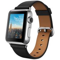 Apple Watch 38 мм, черный ремешок с классической пряжкой 125-200 мм (MLE62)