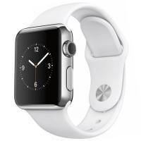 Apple Watch 38 мм, белый спортивный ремешок 130-200 мм (MJ302)