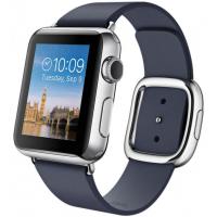 Apple Watch 38 мм, темно-синий ремешок с современной пряжкой 135-150 мм (MJ332)