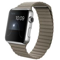Apple Watch 42 мм, бежевый кожаный ремешок 150-185 мм (MJ432)