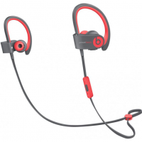 Беспроводные наушники Beats Powerbeats 2 Wireless серого и красного цвета