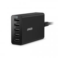 СЗУ Anker PowerPort 5 40W 8A чёрного цвета