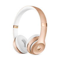 Фото беспроводных накладных наушников  Beats Solo 3 Wireless Gold
