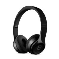 Фото беспроводных накладных наушников  Beats Solo 3 Wireless, глянцевых черных