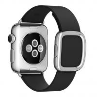 Фото кожаного ремешка для Apple Watch 38 мм, черного