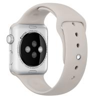 """Фото спортивного ремешка для Apple Watch 42 мм, бежевого """"каменного"""""""