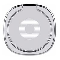 фото держателя кольцо Baseus Privity Ring Bracket, серебряный