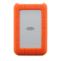 """Внешний жесткий диск LaCie Rugged Mini USB-C 2,5"""", 1TB, оранжевый, STFR1000800"""