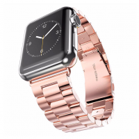 Фото стального браслета для Apple Watch, розово золотой