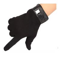 фото товара Перчатки iCasemore для емкостных дисплеев кашемировые с декором. Черный