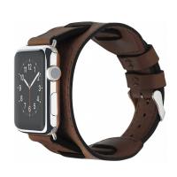 Кожаный ремешок Cozistyle Wide Leather Band для Apple Watch, коричневый-фото