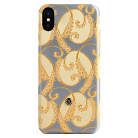 Чехол Revested Silk Collection для iPhone X, золото-фото