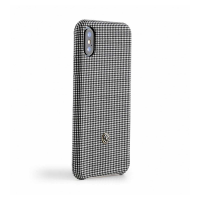 Чехол Revested Timeless Hard Houndstooth для iPhone X, черно-белый-фото