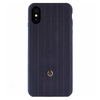 Чехол Revested Timeless Hard Pinstripe для iPhone X, синий-фото