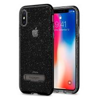 Чехол SGP Crystal Hybrid Glitter для iPhone X, дымный кварц-фото
