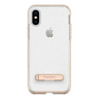Чехол SGP Crystal Hybrid Glitter для iPhone X, золотой кварц-фото