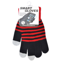 Перчатки для емкостных дисплеев Beewin акрил размер L. Красный/черный.BW-06BK