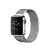 Apple Watch Series 2, 38 мм, корпус из нержавеющей стали, миланский сетчатый браслет (MNP62)