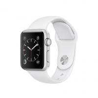 Apple Watch Series 2, 38 мм, корпус из серебристого алюминия, спортивный ремешок белого цвета (MNNW2)