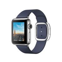 Apple Watch Series 2, 38 мм, корпус из нержавеющей стали, ремешок тёмно-синего цвета с современной пряжкой (MNPA2)