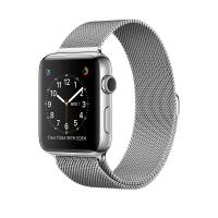 Apple Watch Series 2, 42 мм, корпус из нержавеющей стали, миланский сетчатый браслет (MNPU2)
