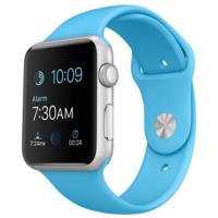 Apple Watch Sport 42 мм, серебристый алюминий, спортивный ремешок голубого цвета (MLC52)