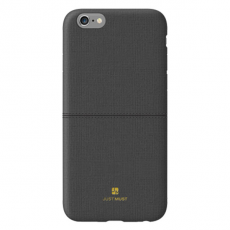 Чехол-накладка Just Must Ratio II Collection на iPhone 7/8, эко-кожа, чёрный, фото 1