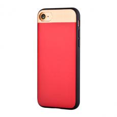 Кожаный чехол на Айфон 7 Comma Vivid красного цвета