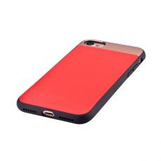 Кожаный чехол на Айфон 7 Comma Vivid (красный), фото 1