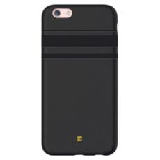 Чехол-накладка Just Must SU III Collection для iPhone 7/8, эко-кожа, чёрный, фото 1