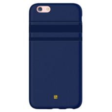 Чехол-накладка Just Must SU III Collection для iPhone 7/8, эко-кожа, тёмно-синий, фото 1