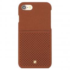 Чехол-накладка Just Must Mercedes Collection на iPhone 7/8, эко-кожа, коричневый, фото 1