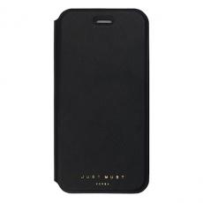 Чехол-книжка Just Must Slim II Collection для iPhone 7/8, эко-кожа, чёрный, фото 1